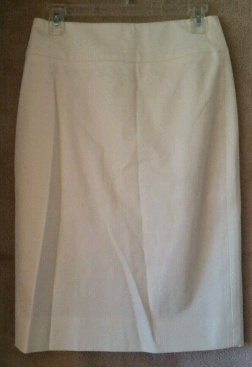 J Crew Womens No. 2 Pencil Skirt bi-stretch cotton 2 Ivory  E8883 Lined Ladies