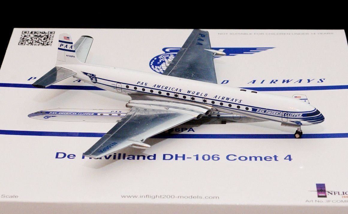INFLIGHT200 IFCOMPAA001P 1 200 PAN AMERICAN WORLD AIRWAYS COMET 4 POLISHED