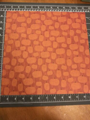 Scrapbook paper lot 12x12 Halloween K/&Co Fall Harvest Pumpkin picking patch 5p