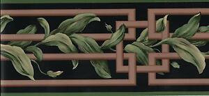 Oriental-Bamboo-Scroll-on-Black-WALLPAPER-BORDER