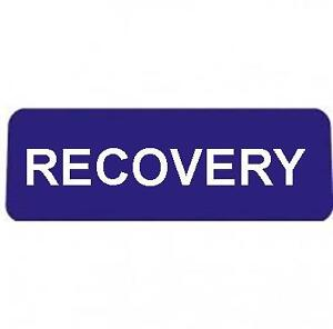 RECOVERY-BLUE-with-Reflective-Silver-Text-univisor-Sign-Sun-visor
