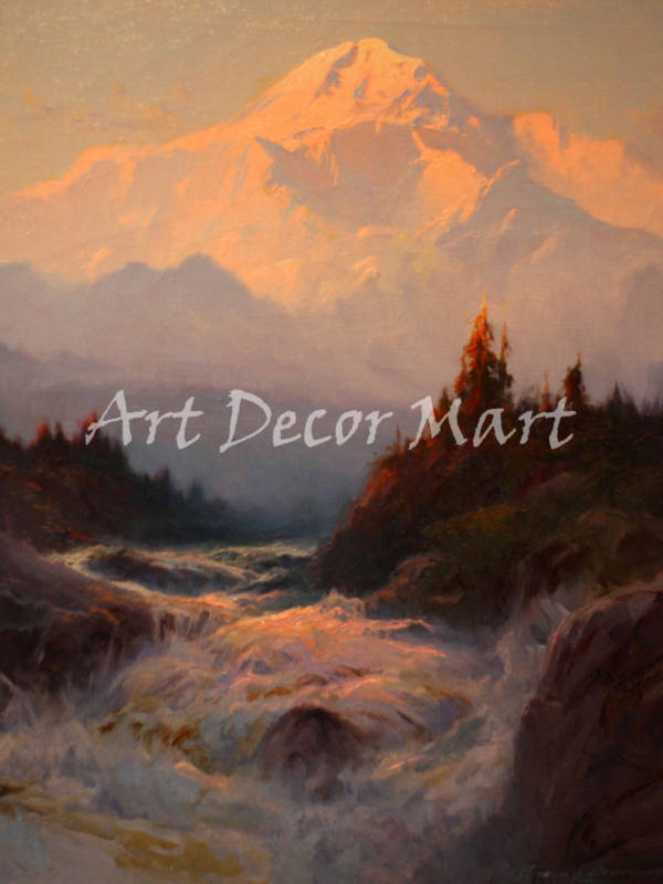 Rivers And Mountains - CANVAS OR PRINT WALL ART  PRINT