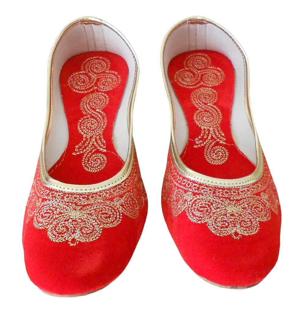 Women shoes Traditional Handmade Red Ballerinas Mojaries