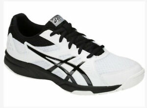Asics-Men-039-s-Upcourt-3-White-Black-Volleyball-Shoes-1071A019-100-Size-7-5-M