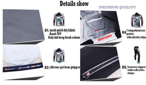 Premium Cycling Bicycle Anti UV Clothes Long Sleeve Jersey Pants Set Paddding