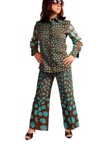 Vintage Womens Mod Pantsuit Graduated Polka Dots B