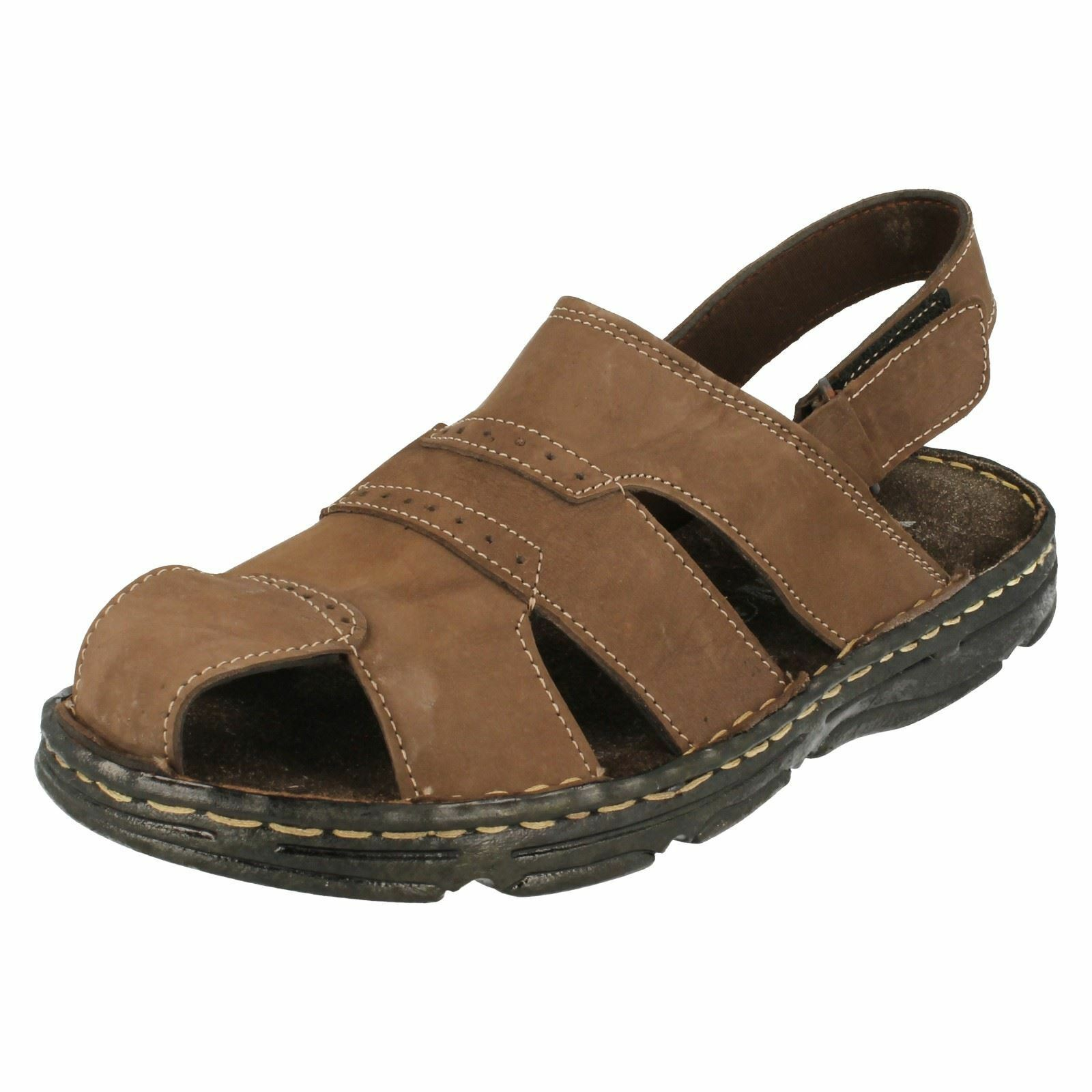 Hombre Moza-X Closed-Toe Hook Loop and Loop Hook Fastened Sandals 9c0369