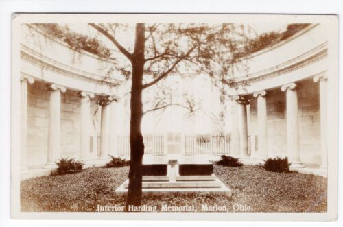 Vintage RPPC Marion, OH Postcard Interior Harding Memorial Up Close Unposted