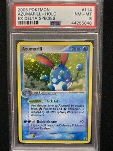 2005-Pokemon-EX-Delta-Species-Azumarill-Holo-114-113-PSA-8-NM-MT