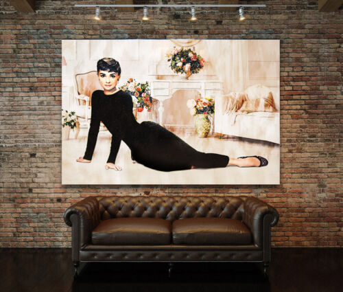 Acrylic Glass Wall Picture Audrey Hepburn Art Print Picture Deco Glass Picture Poster