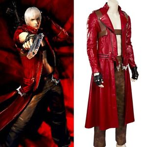 Details About Devil May Cry V 3 Dante Dmc 3 Cosplay Costume Jacket Coat Pants