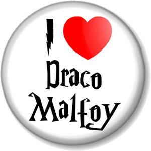 Image Is Loading I Love Heart Draco Malfoy 1 034 Pin