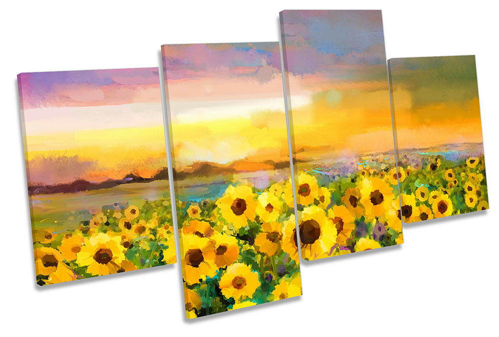 SUNFLOWER giallo SUNSET REPRO Multi a muro opera d'arte art print
