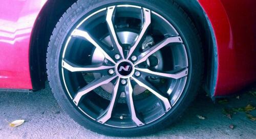 Hyundai N Logo Radnabendeckel Radnabenkappen 65 mm Aufkleber Folie Sticker