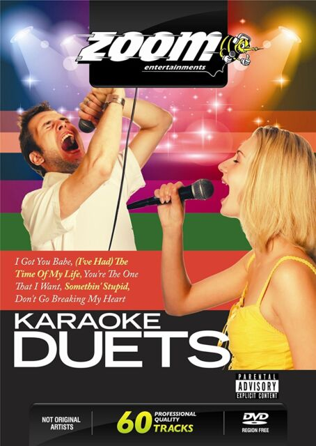 Zoom Karaoke Ultimate Duets DVD - 60 tracks on 2 DVDs - No Fade Out Endings!