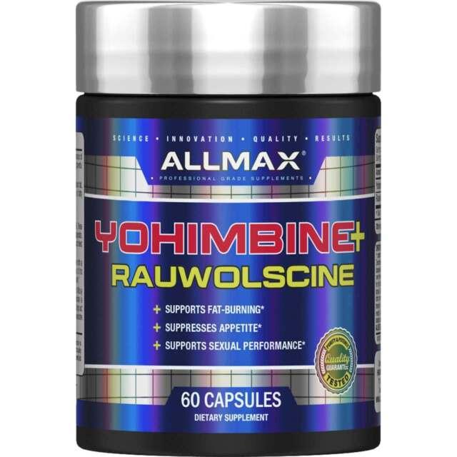ALLMAX Nutrition  Yohimbine HCI   Rauwolscine  3 0 mg  60 Capsules