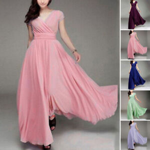 Women-Dress-Ladies-Evening-Chiffon-Long-Plus-Size-Fashion-Dress-Party-Gown