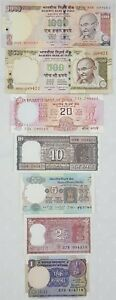 034-SET-OF-7-034-ALL-DIFFERENT-INDIA-OLD-ISSUE-BANK-NOTE-IN-UNC-RARE