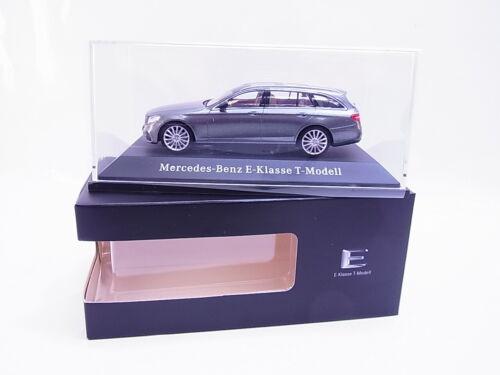 63133 Kyosho Mercedes-Benz E-Klasse T-Modell grau Modellauto 1:43 NEU OVP