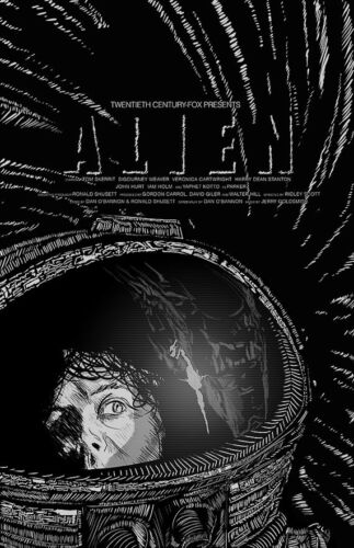 Alien Screenprint 11x17 Ridley Scott sigourney weaver print