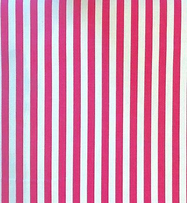 Bright A Righe Rosa E Bianco Stampa 100% Cotone Tessuto Al Metro-mostra Il Titolo Originale Facile E Semplice Da Gestire