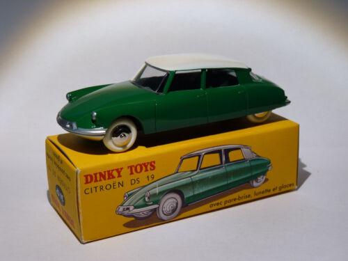 24CP au 1//43 de dinky toys atlas Citroen DS 19 verte ref 24 CP certificat