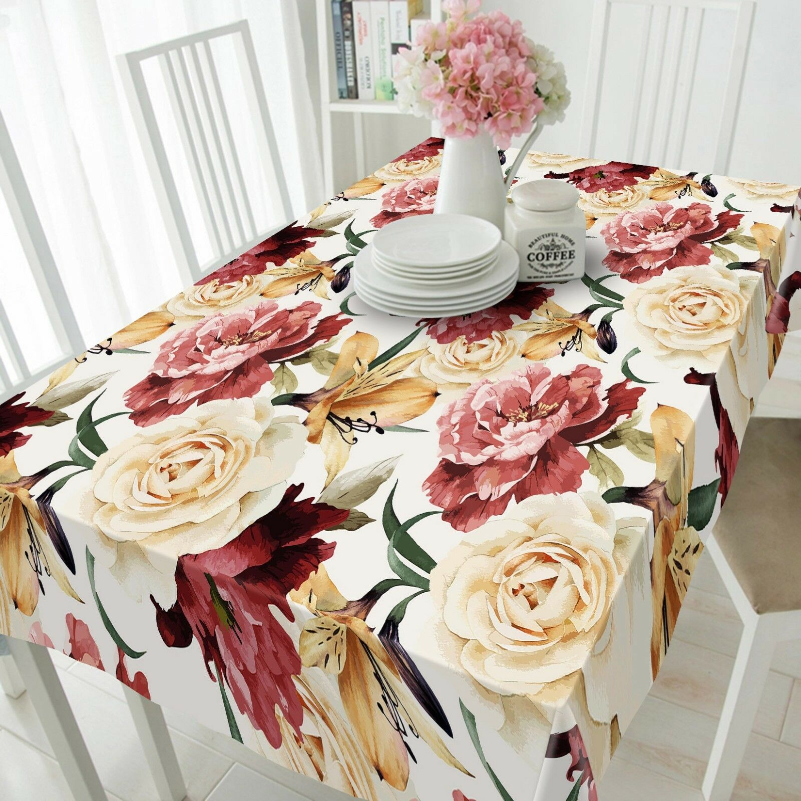3D Peony rose 266 Tablecloth Table Cover Cloth Birthday Party Event AJ Summer