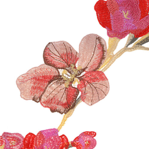 Floral Embroidery Large Applique Patch Sew Iron On Chinese Wedding Cheongsam 1X