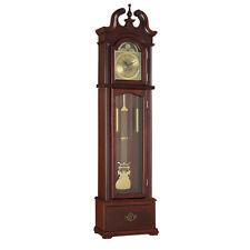 Valentine Grandfather Clock Westminster Pendulum Chimes Quartz Drawer Cherry