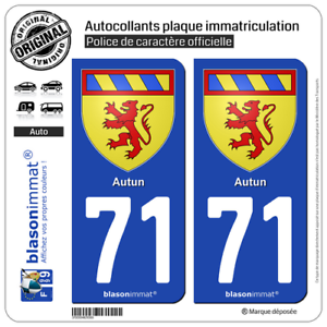 Armoiries 2 Stickers Autocollant Plaque Immatriculation Auto 43 Auvergne