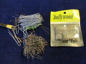 Vintage-Hairpin-HUGE-Lot-Bobby-Pin-100-039-s-of-Hair-Pins-MH