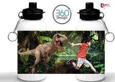 Personalizado Dinosaurio corre! diseño kids/drinks Botella De Agua-cualquier Nombre Y Foto