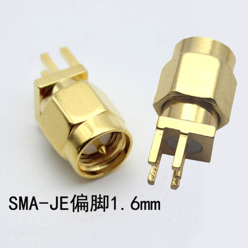 Gold SMA male//Female Socket Solder PCB Board Mount Straight RF Connector Adapter