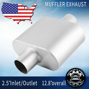 """Silencer Outlet Performance Exhaust Muffler Universal Single 3/"""" inch Inlet"""