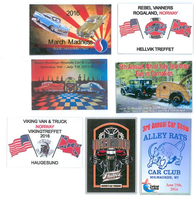 Car Show Custom X Full Color Dash Plaques EBay - Car show plaques