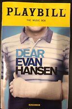 Dear Evan Hansen Playbill Broadway Musical Ben Platt Hanson Hansan
