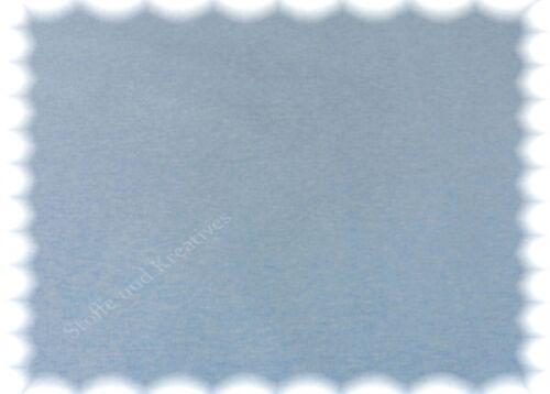 Sweat melange Sweatshirt hellblau meliert angerauht 50 cm