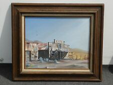 Vintage Western Frontier Oil Painting PICTURE signed by Seargeant in 1974