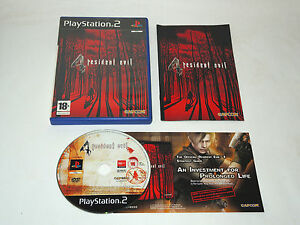 RESIDENT-EVIL-4-complete-in-box-with-manual-Sony-PS2-Playstation-2-PAL-game