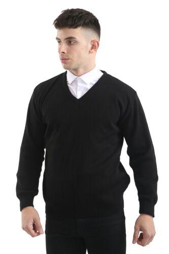 Men/'s V Collo Maglione Morbido Maglione Pullover uniforme Premium Smart Casual Designer