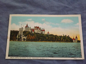 VINTAGE 1931 BOLDT CASTLE HEART ISLAND THOUSAND ISLANDS  NEW YORK   POSTCARD