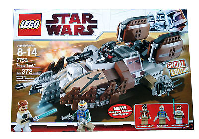 Lego 7753 Star Wars Pirate Tank New Bent Box NISB 372 Pieces