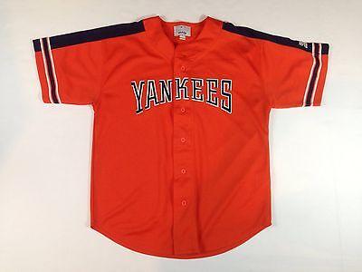 sports shoes 819b3 fd857 Men's Large New York Yankees Orange Alternate Jersey by Starter | eBay