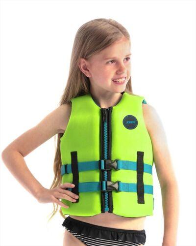 2021 Jobe Neoprene Life Vest Kids Buoyancy Aid Lime Green 83474