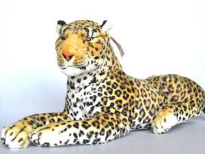 PLUSCHTIER-PLUSCH-LEOPARD-liegend-90-cm-NEU-Plueschleopard-Leo-Stoffleopard