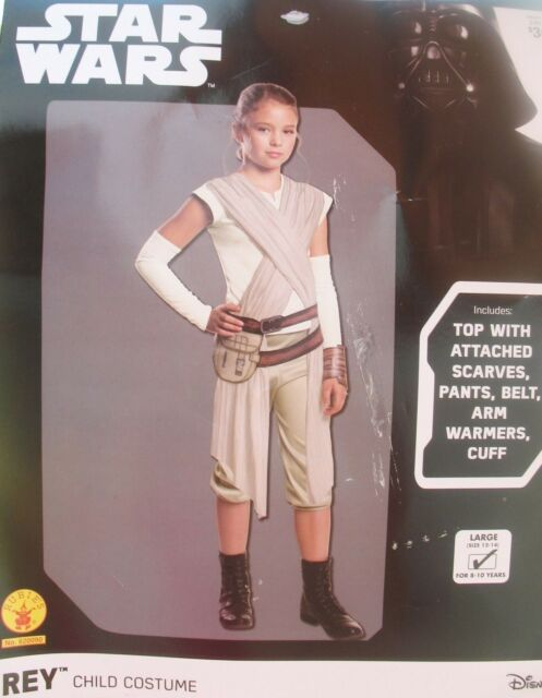 711f554c254 Star Wars The Force Awakens Rey Costume Child Size 12-14 Large L Rubie's  620090
