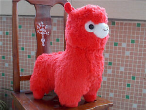 Kawaii-Red-Alpaca-Llama-Alpacasso-Arpakasso-Plush-Soft-Toys-Doll-H-35cm