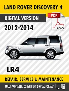 2012 2014 land rover discovery 4 lr4 factory repair service manual rh ebay com 2016 land rover discovery 4 workshop manual pdf Land Rover Discovery Interior