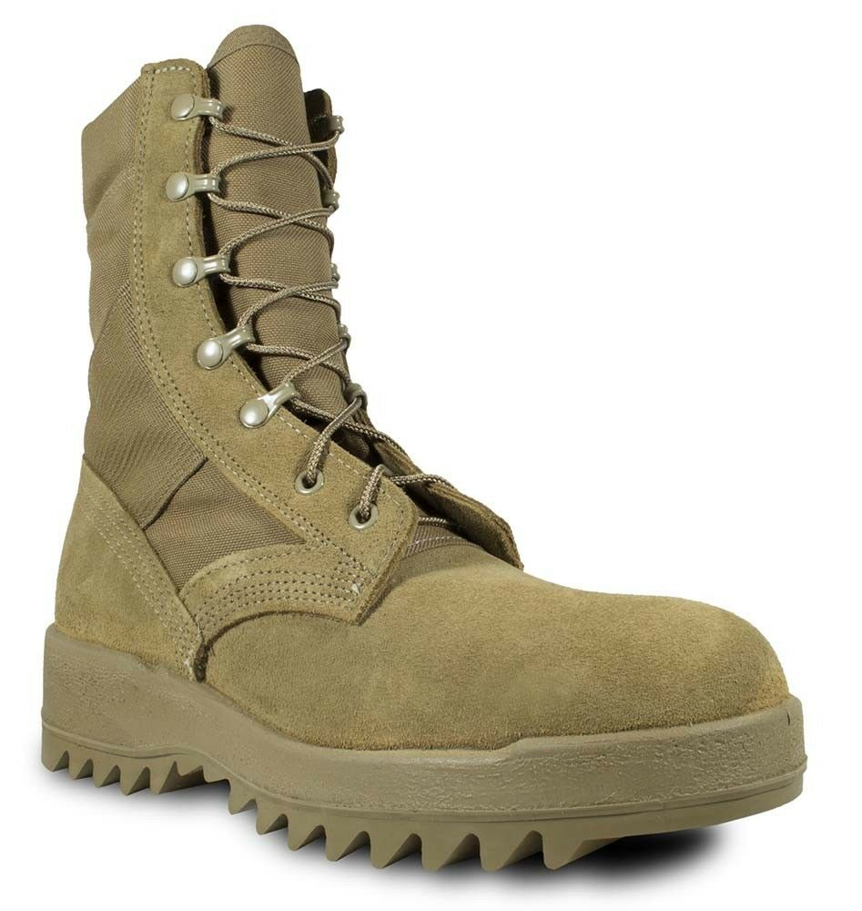 McRae Hot Weather Coyote Ripple Sole Combat Boot AR-671 Military Boots 8188 New