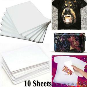 10Pcs-New-Light-Fabric-A4-Cloth-Iron-On-T-Shirt-Heat-Transfer-Paper-Painting